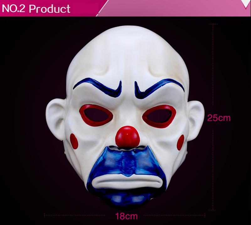 High Quality Resin Clown Mask Halloween Christmas Cosplay Costume Party Mask Movie Theme Jack Napier Batman Joker Masks8