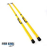 FISH KING Telescopic Fiber Glass Rock Rod 5.0M/6.0M Fishing Pole Surf Casting Rod Spinning Boat Rock Fishing Rod Tackle