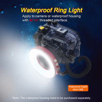 67mm Waterproof Underwater Diving LED Ring Flash Light 40m Impermeable for Camera Or Housing Case