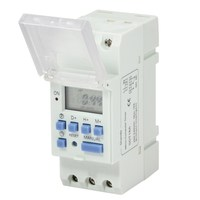 Din Rail Digital LCD Programmable Timer Switch Microcomputer Electronic Weekly Relays Control Timer Controller 220VAC 16A