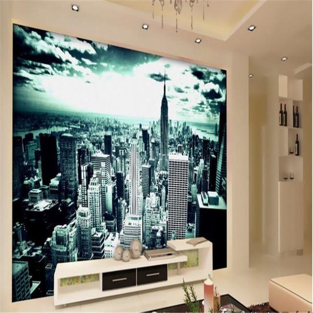Beibehang Personalizzato New York Paesaggio Camera Da Letto Ampio ...