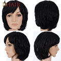 New Short Hair Wigs Curly Synthetic Wig Perruques Courtes Cheveux Naturels Box Braided Wigs For Black Women Micro Braided Wig