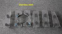 For Toyota Prado FJ150 2014 2015 Stainless Steel Front Grille Grill Bezel Honeycomb Mesh Cover Trims