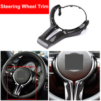 Car Styling Real Carbon Fiber Steering Wheel Trim Cover Sticker For BMW M2 F87 M3 F80 M4 F82 M5 F10 M6 F06 X5M X6M Accessories
