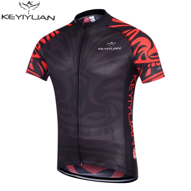 2016 KEYIYUAN Muži Cyklistické dresy Bike Půjčovna krátkých rukávů Mountaion MTB Dresy Oblečení Košile Ropa Cyklistické silnice Bike Dresy
