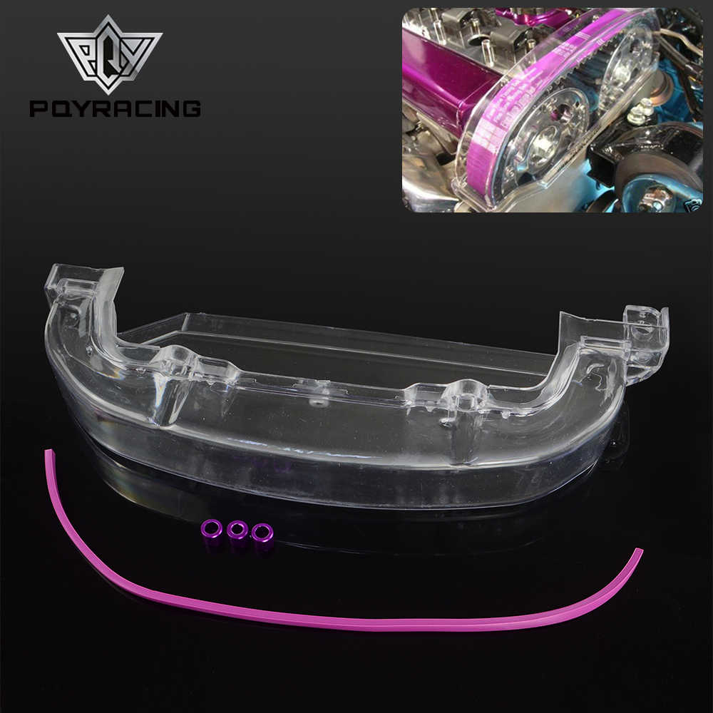 PQY - Clean Cam pulley Cover for Mitsubishi Lancer Single Cam Cover 4G63 CLEAR PULLEY COVER/CAM COVER/TIMING BELT PQY-CTB01-MB