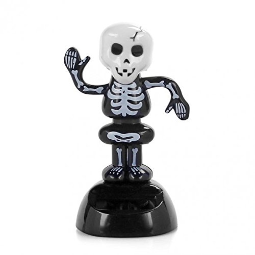 CNIM Hot Solar Power Dancing Figure Gruesome Skeleton,Novelty Desk Car Toy Ornament