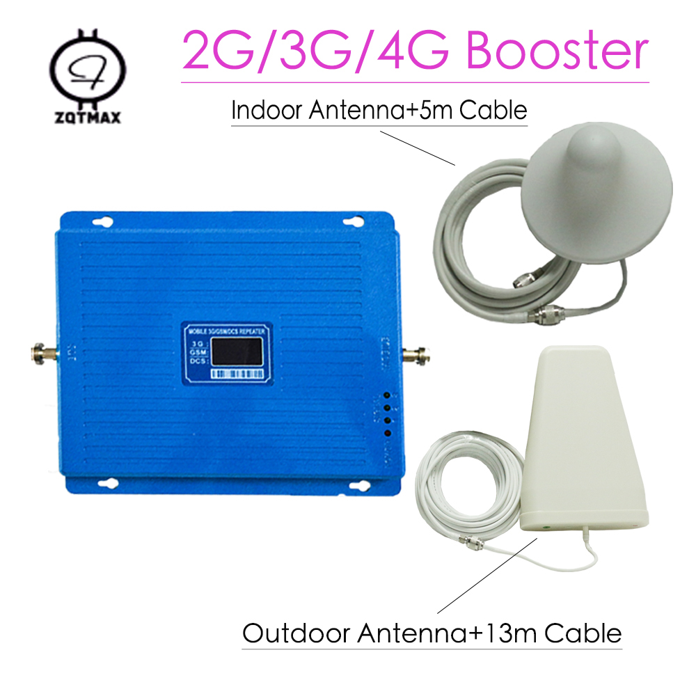 2G 3G 4G Tri Band Mobile Signal Repeater GSM 900 DCS 1800 WCDMA 2100 Cellphone Cellular  Booster Diy Amplifier Full Kits