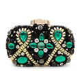 Women's Crystal Evening bag Retro Beaded Clutch Bags Wedding Diamond Beaded Bag Rhinestone Small Shoulder Bags Bolsas XA1247B