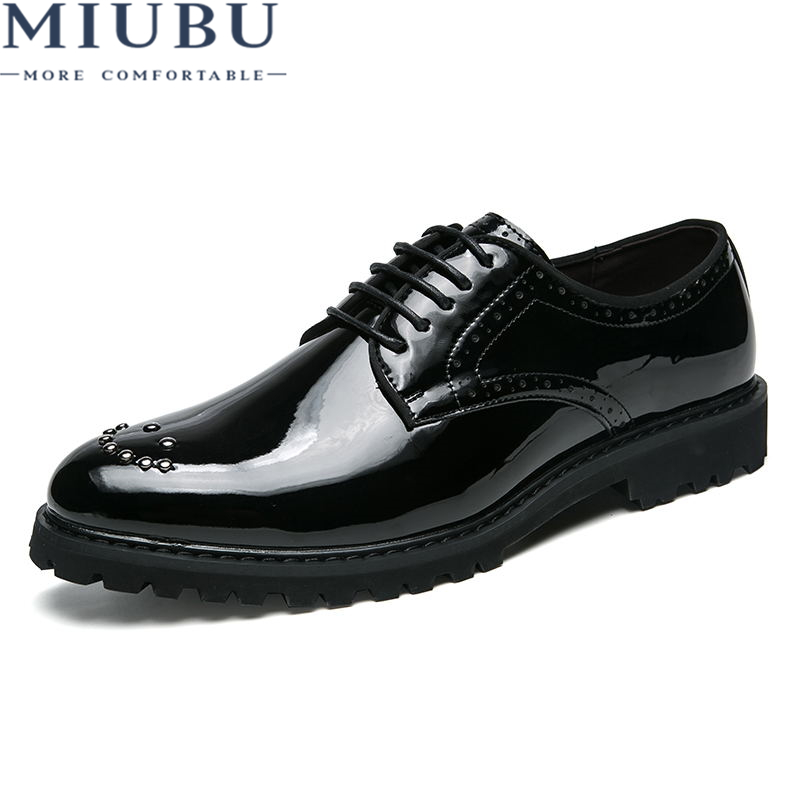 MIUBU Factory direct Fashion Men Shoes Genuine Leather Dress Mens Business Oxford Gentleman