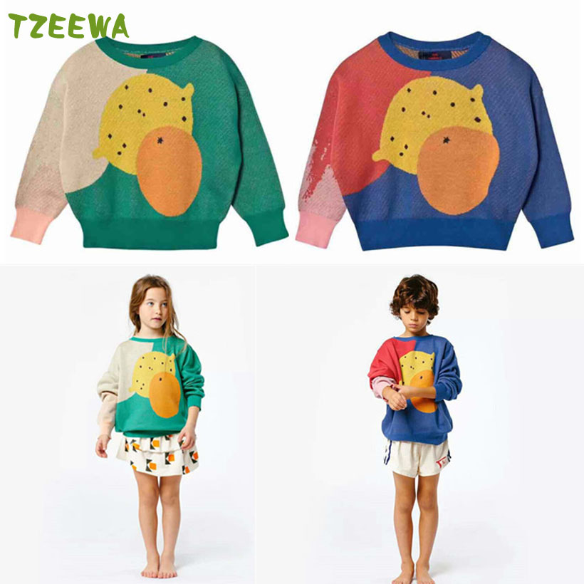 Spring Autumn Baby Girl Sweater Fruit Toddler Sweaters Infant Clothes Knitted Girl Coat Winter Kids Cardigan Child Sweaters db4013 dave bella autumn baby girl sweet design sweater toddler sweaters infant clothes girl soft sweater high quality