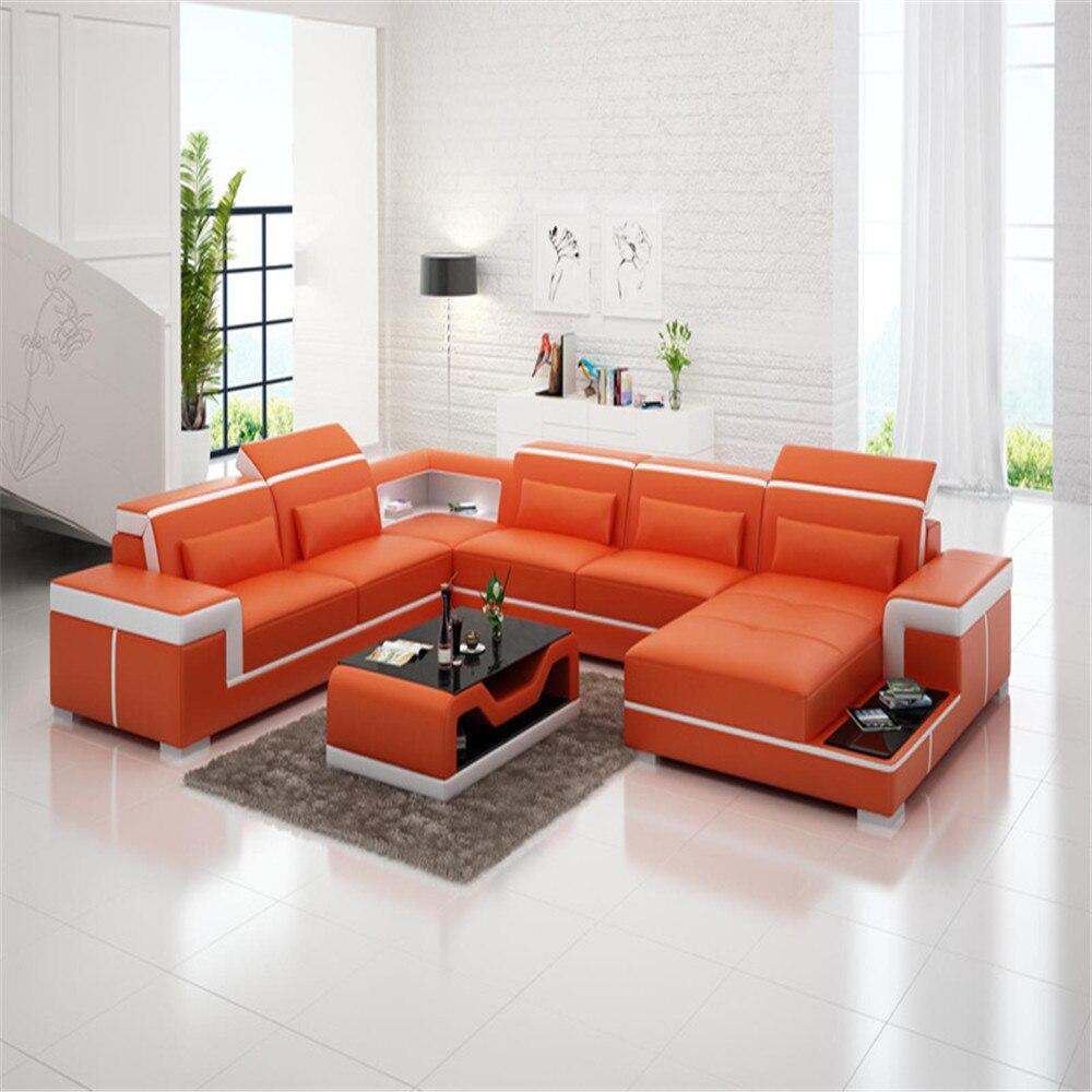 0413 g8020 classical durable furniture living room u half shaped leather sofa