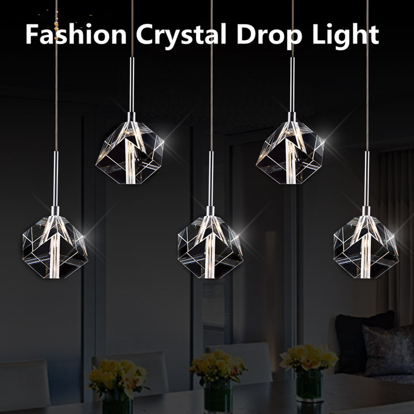 LED Crystal Lights & Lighting Restaurant Lights & Lounges Dining Room Shades Creative Lifestyle 220V