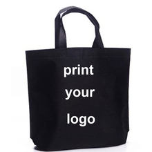 300 pces! 50%-60% custo de transporte, logotipo personalizado do saco de compras da impressão, imprima seu saco do logotipo que compra, faz a cor do tamanho