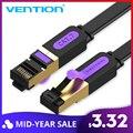 Vención de La Ethernet Cable RJ 45 Cat7 Lan Cable STP de Cable de red de 1 M 2 M 3 m 5 M 8 m 10 m 15 M Cable de conexión Cable para PC Router portátil Cat 7