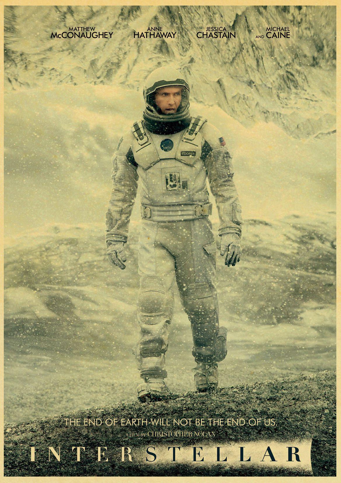 Home & Garden Science Fiction Film Interstellar Poster Kraft Paper Print Painting Retro Poster Wall Sticker Home Decor