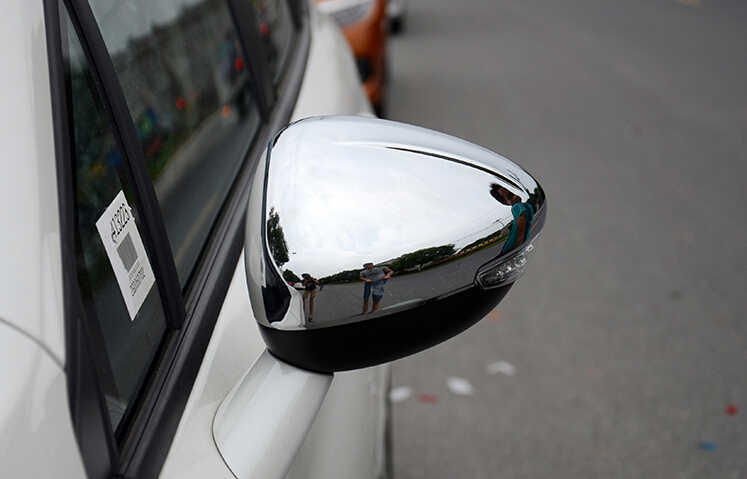 SKTOO Stying Carro Apto Para Peugeot 301 308 408 508 2008 3008 308 S Porta Lateral Asa Espelho Chrome Tampa Traseira Cap acessórios
