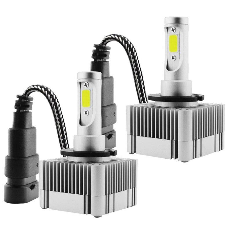 D1S D3S LED Headlight Kit Bulbs 6000K White Replace HID Xenon Conversion LampsD1S D3S LED Headlight Kit Bulbs 6000K White Replace HID Xenon Conversion Lamps
