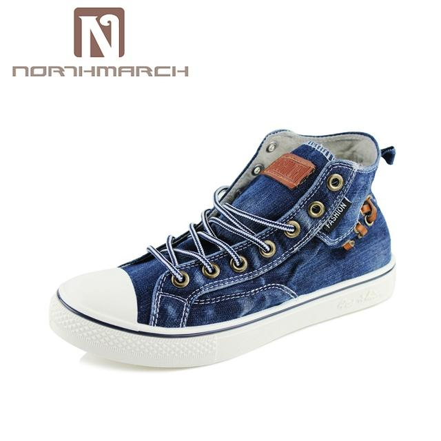 NORTHMARCH New Spring/Autumn Casual Men Shoes High Top Sneakers Men Lace-Up Canvas Shoes Men Zapatillas Hombre Deportiva