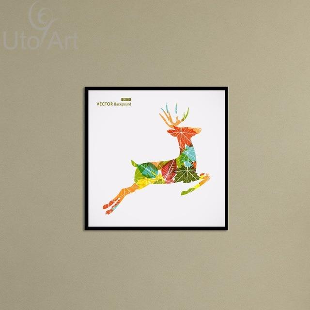 Cheap Wall Decor Art Painting Modern Nordic Color Deer Digital ...