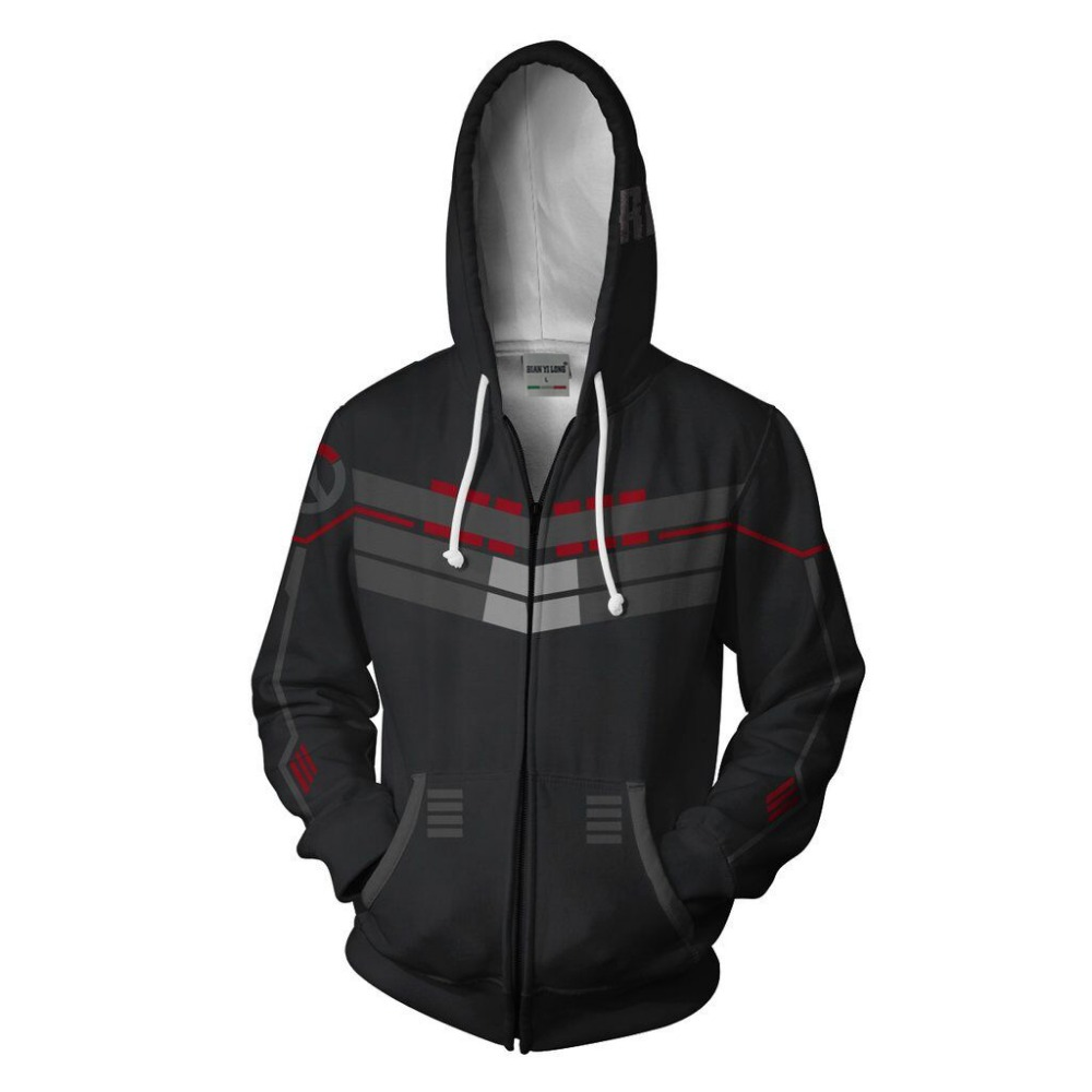 BIANYILONG 2019 new men hooded Reaper 3D printed hoodies tracksuit zipper hoodie hip hop tops free