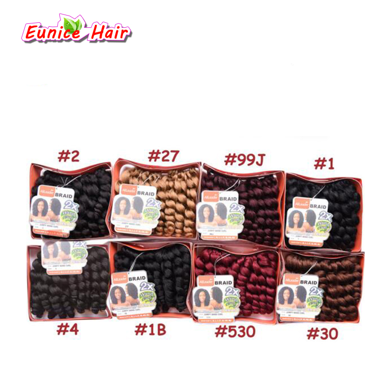 10 20 Strands Jumpy Wand Curl Braids Hair Jamaican Bounce Crochet Twist Braids African Collection Braiding Hair