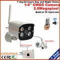 1080 p Full HD Câmera IP Sem Fio Wi-fi Ao Ar Livre Câmera de Segurança Todos Os em um slot para Cartão de Câmera de CCTV Casa Com Built-inTF Night vision