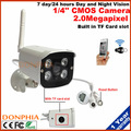 1080p Full HD Wireless IP Camera Outdoor WiFi Security Camera All in one Home CCTV Camera With Built-inTF Card slot Night vision