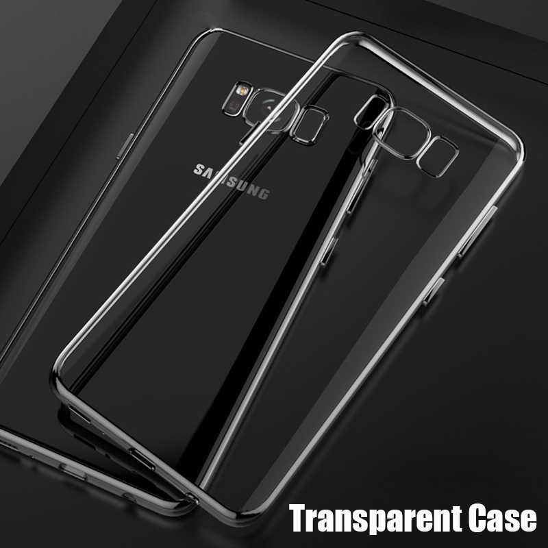 شفاف حقيبة لهاتف سامسونج جالاكسي A8 2018 A6 بلس S8 s9 Plus S7 S6 edge A3 A5 A7 2016 J1 J3 J5 J7 2017 جل غطاء هاتف من البولي يوريثان