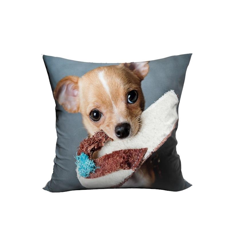 Noua design 3D de câine mici cu pantof decorative perna de acoperire - Textile de uz casnic
