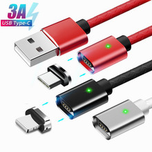 Magnetic Charging USB Cable Quick Charge for iPhone 8 plus Charger Samsung S9 Plus Xiaomi redmi note 7 Phone Fast