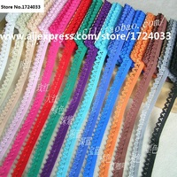 Top Grade 1.1cm 20Meters Small Lace Trim / Underwear Elastic Stretch Lace Trimmings/ Diy Sewing Garment Trims Z249