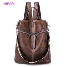 Women Double Zipper Backpacks Multifunction leather Cloth School Bag Backpacks For Girls Female Vintage Backpack Shoulder Bags