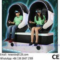 № Нист развлекательного оборудования 2 игроков интерактивные виртуальной реальности 9D VR стул фильмы симулятор яйцо Кино игровой автомат