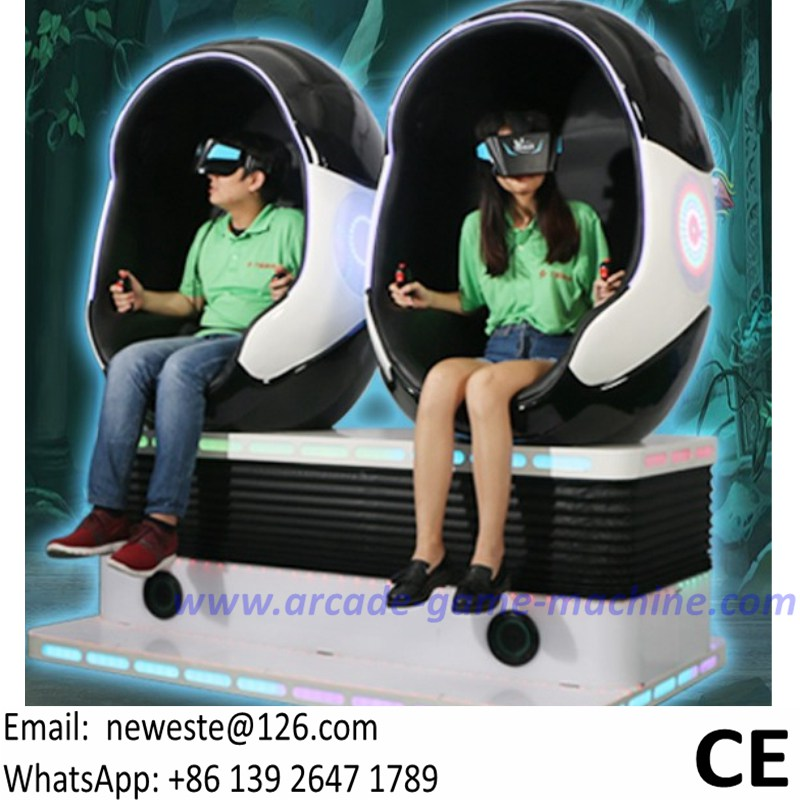 cbda4d6dede4 Manufacturer NYST Amusement Equipment 2 Players Interactive Virtual Reality  9D VR Chair Movies Simulator Egg Cinema Game Machine