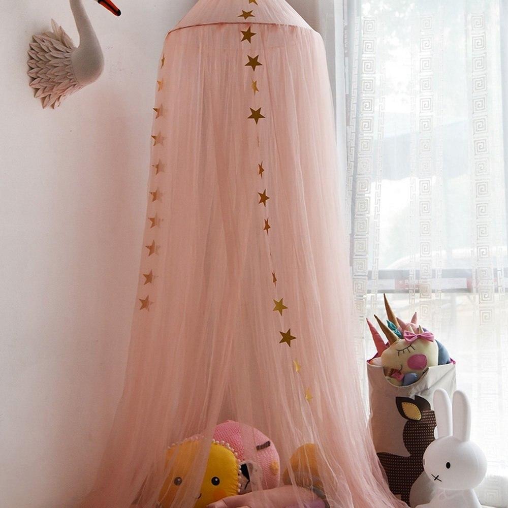 10 слоев 3 цвета розовый серый и белый марлевые Дети Москитная сетка кровать для принцессы балдахин купольная сетка
