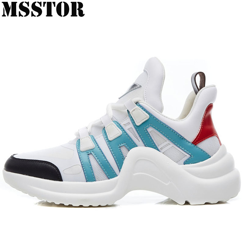 MSSTOR Women Running Shoes Summer Breathable Mesh Sport Shoes For Woman Brand Outdoor Athletic Sports Run Womens Sneakers 35-40 msstor 2018 men running shoes brand summer breathable mesh sports run outdoor athletic sport shoes for male jogging man sneakers