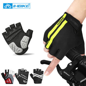 INBIKE Men Women Cycling Half Finger Gloves Summer Breathable Anti-shock Sports Gloves Guantes Ciclismo MTB Bike Bicycle Glove