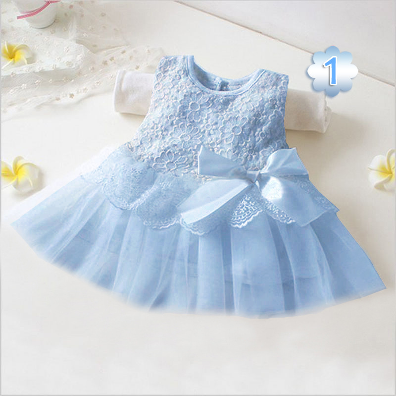 532ff4e98ae4 2017 Summer New Baby Girls Dresses Sunflower Lace Bow Embroidery Sleeveless  Priness Party Dress Toddler Clothing E2201