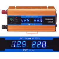 1200W Auto inverter 12 V 220 V Spannung Konverter 12v zu 220v Auto Ladegerät Volt display CY892