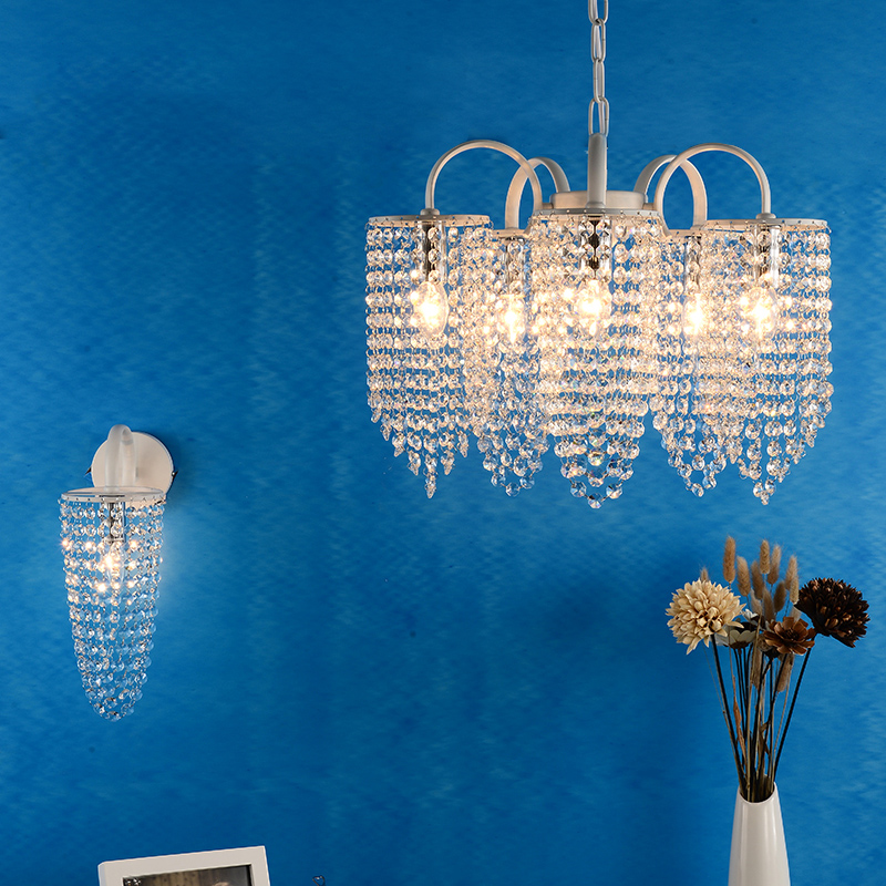 Foyer coffee store clear Crystal Lamp Italy style home indoor crystal lighting wall fixtures Kitchen Dining Room chandeliers managing the store