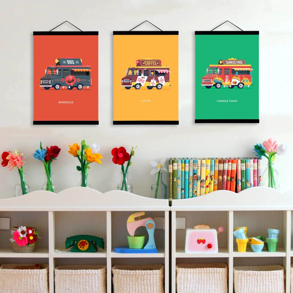 Aliexpress Com Buy Modern Colorful Cartoon Cars Bus