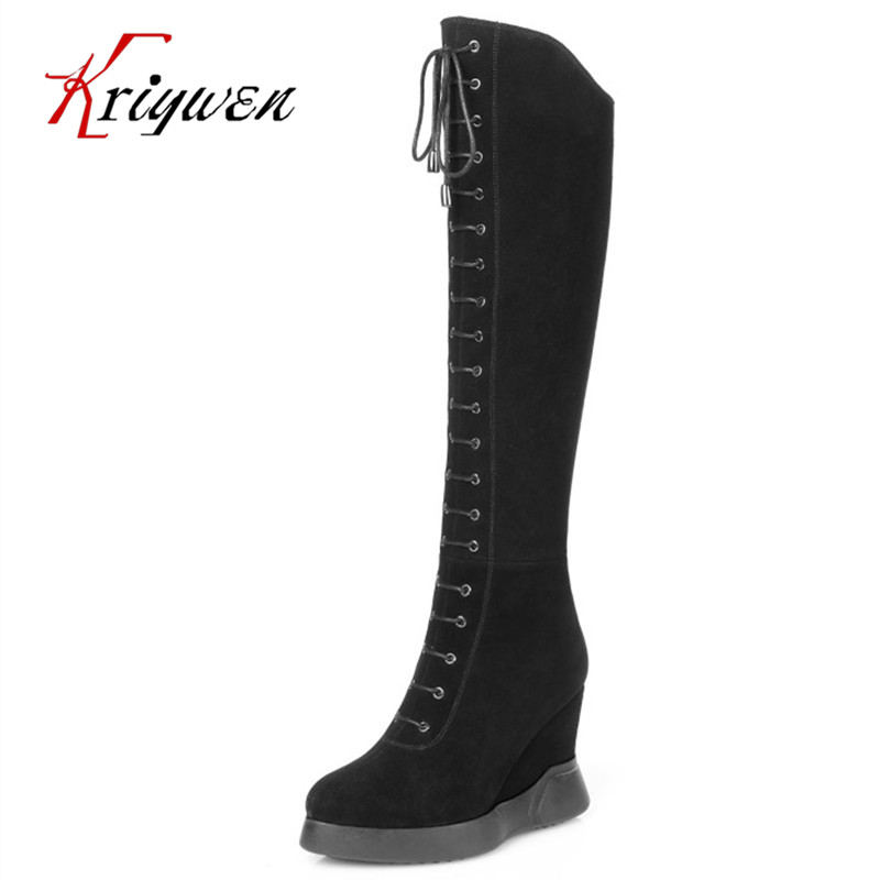 Plus size 34-42 sexy cow suede high heels women fashion long dress motorcycle shoes knight elegant ladies black knee high boots brand new fashion black yellow women knee high cowboy motorcycle boots ladies shoes high heels a 16 zip plus big size 32 43 10