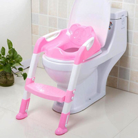 Potty Toilet Trainer For Baby Toddler Safety Seat Adjustable Ladder Infant Toilet Pee Training Non slip Folding Seat potties Boy