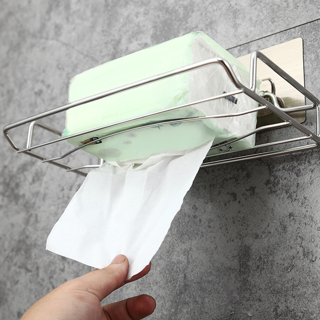 Bathroom Hardware Paper Towel Holder Adhesive Paper Towel Holder Under Cabinet For Kitchen Bathroom New Arrived #20190220 Selling Well All Over The World
