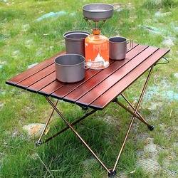 Портативные походные боковые столы с алюминиевой столешницей: Жесткий складной стол в сумке для пикника, лагеря, пляжа, туристического стол...