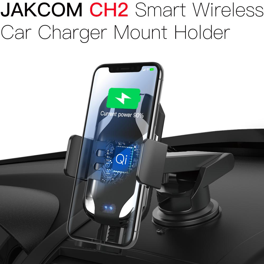 JAKCOM CH2 Smart Wireless Car Charger Holder Hot Sale in Holders As Qi Fast Charging with LED Indicator Touch Unlocking Stands