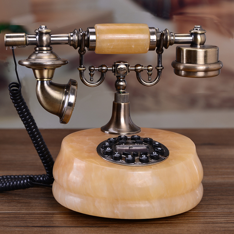 Antique jade fashion telephone European Garden Home Office landline phone phone Decoration home art fitted Redial vintage phone