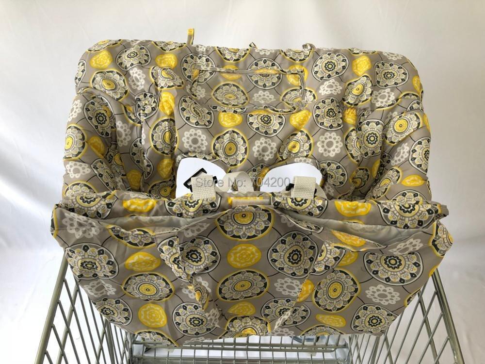 Желтый цветок корзины сиденья 2-в-1 высокий чехлы на стулья для новорожденных и детей ясельного возраста многофункциональный как накладка, сумка, крышка и подушка