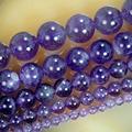 "Comercio al por mayor de 4mm 6mm 8mm 10mm 12mm Natural Amethyst Púrpura Redondo Beads15.5 ""Pick Tamaño Libre Shipping-F00087"